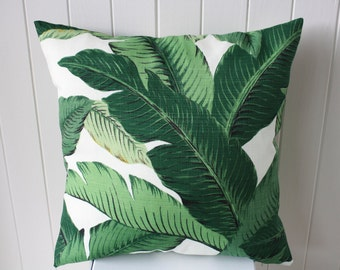 "Outdoor Tommy Bahama 45cm x 45cm - 18"" x 18""  Square/Cushion / Pillow Cover Tropical Green Swaying  Palm"