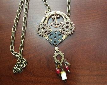 Steampunk Necklace, Steampunk Jewelry, Jewelry,  Steampunk Art, Cosplay, Steampunk Costume, Gothic, Neo Victorian, OOAK