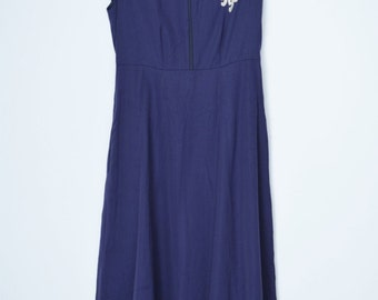 IMELDE & STEFANO CAVALLERI I Pinco Pallino Girls Sailor Dress Size 14, Navy Blue