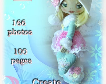 Tutorial to create a textile doll Katie. PDF. Pattern. Step by Step Guide. Instant PDF