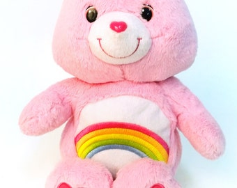 Care bear Cheer Bear, pink, vintage toy