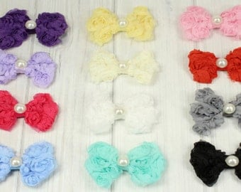 Anabelle Vintage Pearl Rosette Bow