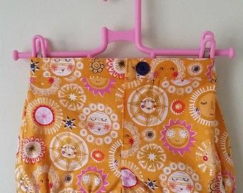 Sunshine shorts, yellow shorts, summer clothes, bubble shorts, READY to post, age 4, kids clothing, uk