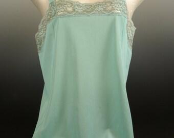 Pale Aqua Blue Full Slip Mod Minidress Length Dixie Belle label
