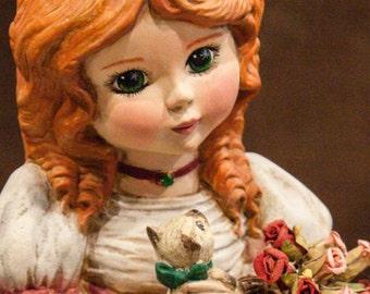 OOAK  Victorian Doll handpainted ceramic