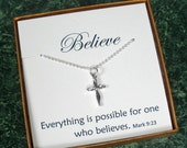 Christian Gifts, Unique Christian Gifts, Holidays, Christmas Gifts, Confirmation Necklace, Confirmation Jewelry, First Communion Gift