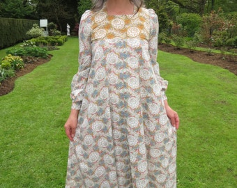 Vintage 1970s Maxi Dress by Snob Folk Style William Morris Liberty Print