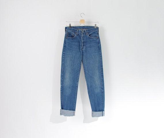 80s Levi's 1501 0117 Selvedge Seam Denim Jeans / Size W30 L38