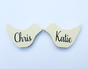 Personalized Love Birds, Wedding Gift, Custom Gift, Anniversary gift, Wood Love Birds, Rustic Birds, engagement gift, home decor shabby chic
