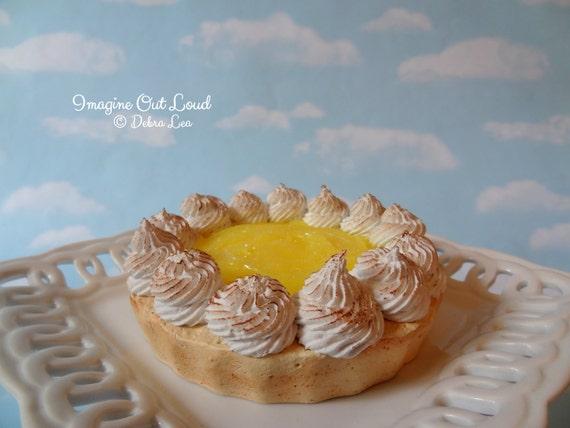 Fake Pie Faux Tart Dessert Lemon Meringue Sweet Home Decor Kitchen Photo Prop Display Gift
