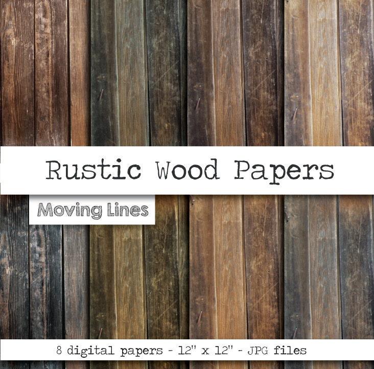 rustic wood digital paper set natural wood grain by
