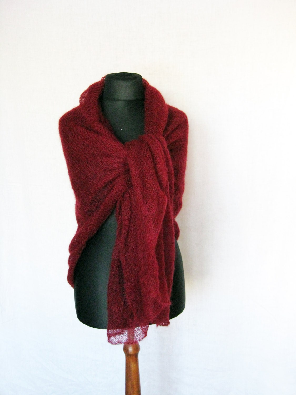 oversize scarf large scarves marsala mohair wrap by