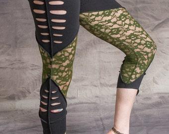 Pixie Leggings Hippy Psytrance Festival Goa Party Forest Wear One Size: Regular
