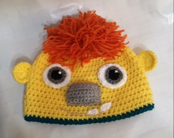 crochet kids hat,Ogre Doug hat,Wallykazam hat,crochet beanie hat,kids accessories,halloween costume,gift ideas,winter hats,children clothes
