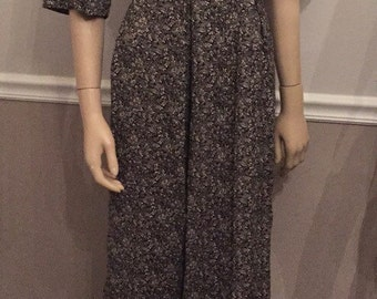 Jeffrey and Dara palazzo pant / black and white jumpsuit by Linda Hutley / size XL