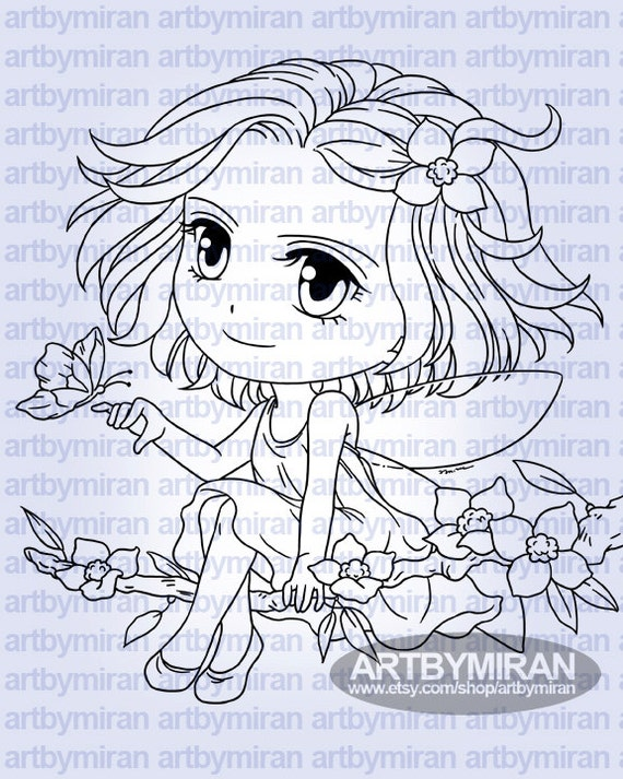 Digital Stamp - Fairy Freya (#294)