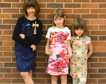 Sewing Pattern Extension: Game Day Sport and Racing Dress sizes 2  to 10 (PDF Digital Pattern)