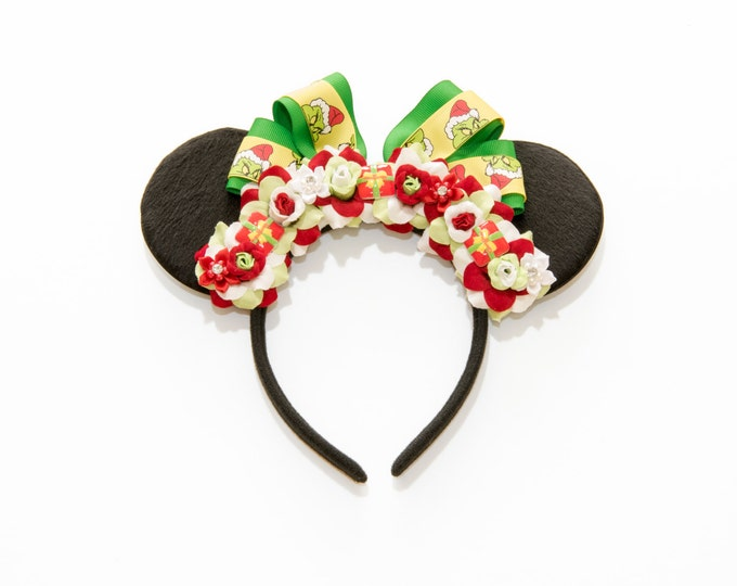 Grinch Mouse Ears Headband