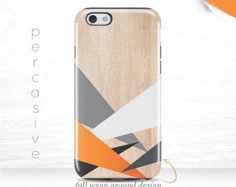 iPhone 7 Plus Case Abstract Triangle iPhone 6s Bright Orange iPhone 6 Plus Case Wood Print iPhone 5s Case Neutral iPhone 7 Case Grey  07s