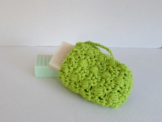 how to use crochet soap saver