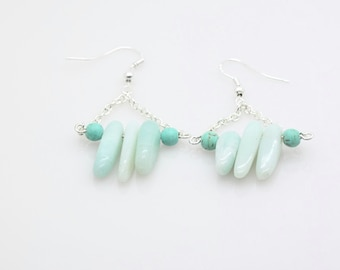 Blue Drop Earrings - Amazonite - Blue Earrings - Atlantea