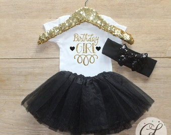 First Birthday Tutu Outfit / Baby Girl Clothes 1 Year Old Outfit One Birthday Set 1st Birthday Girl Outfit Baby Tutu Bow Set Outfit 045