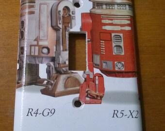 Star Wars Astromech Droids light switch cover