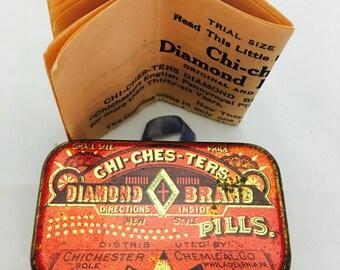 1907 Chi-Ches-Ters Diamond Brand Small Trial Size Medicine Lithotin