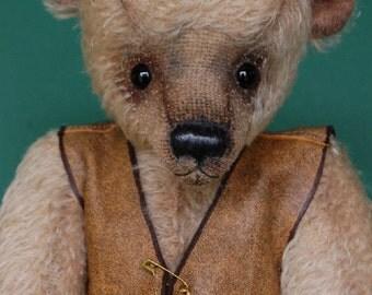 """OOAK Artist Bear """"Thruppence"""""""