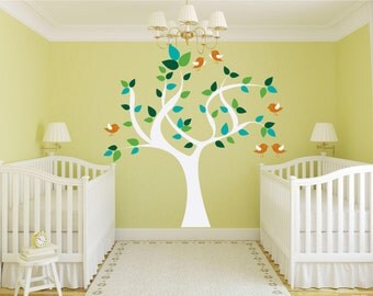 Tree With Birds Vinyl Wall Decal