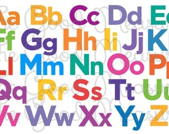 Chicka Chicka Boom Boom Lookalike Multi Color Alphabet Placemat