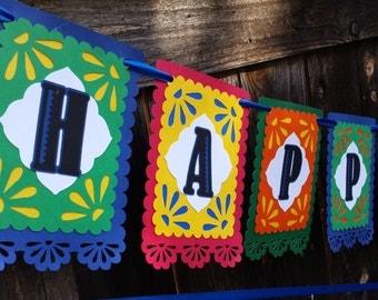 Fiesta Birthday Banner - Fiesta Banner - Fiesta Card stock banner - Fiesta Birthday - Fiesta Decoration - Fiesta Decor - Fiesta sign