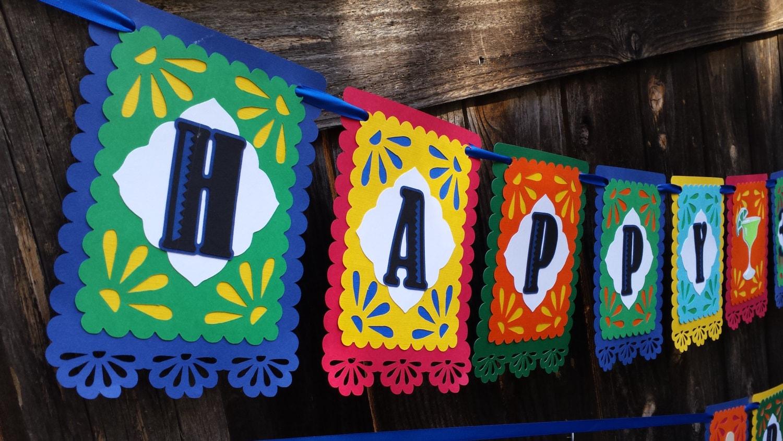 fiesta birthday banner fiesta banner fiesta card stock banner fiesta birthday fiesta - Fiesta Decorations
