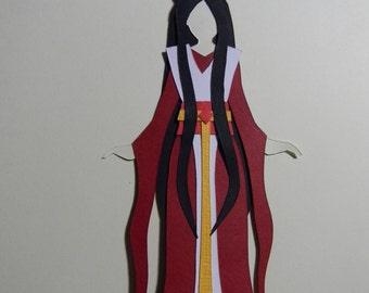 Japanese Goddess Amaterasu Paper Cut