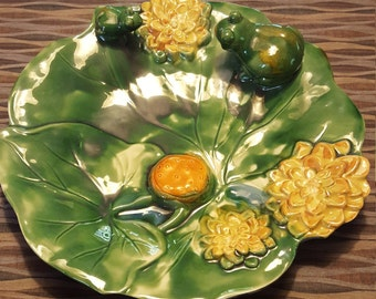 Mojalica styled Water lilly plate, centerpiece