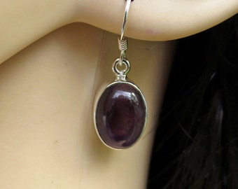 Purple Amethyst Earrings, Silver Amethyst Amethyst, Amethyst Jewelry, February Birthstone