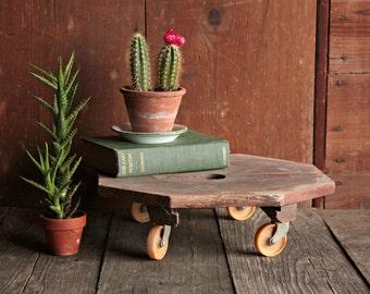 Vintage Rolling Cart, Vintage Mechanics Cart, Vintage Workshop Dolly, Industrial Dolly, Rustic Shelf, Rustic Plant Stand, Rolling Stool