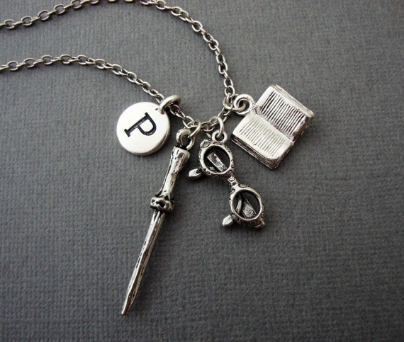 Harry Potter Book Keychain ~ Harry potter charm necklace inspired