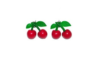 Cherry Earrings- Pinup Rockabilly Vintage, Classic