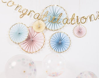 Congratulations Banner in Glittered Gold - perfect for your next bridal or baby shower!