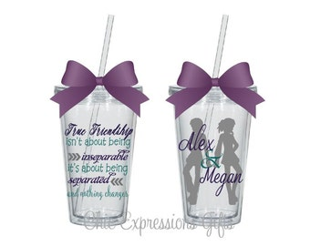 True friendship tumbler - available in 4 sizes