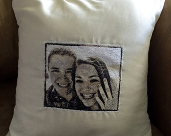 Custom Embroidered Pillow From Your Photo