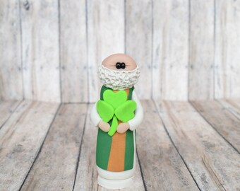 St. Patrick statue, ornament, rearview mirror, saint statue, Confirmation gift, Baptism gift, Catholic gift, saint gift
