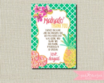 items similar to luau theme th birthday party personalized, Birthday card