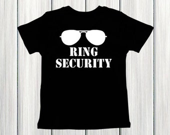 Ring Security Shirt Wedding Rehearsal Shirt Ring Bearer Gift Ring Bearer Shirt Boy Wedding Rings Shirt Wedding Shirt Ring Security Outfit