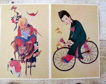 Set of 10 Collectible Vintage Chinese Postcards / New stock, Never Used Vintage Post Cards from China