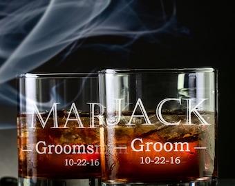 1 Groomsmen Whiskey Glass - Wedding Whiskey Glass - Groomsmen Bourbon Glass - Groomsmen Scotch Glass - Groomsmen Rocks Glass - Whiskey Glass