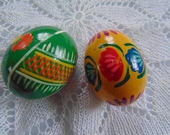 Egg wooden Easter eggs.