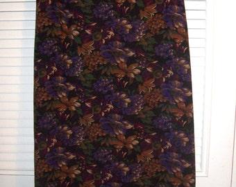 Skirt 16, Vintage Briggs New York Pinwale Corduroy Maxi Fall Skirt Size 16 - 18