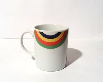 Vintage 1970s The Toscany Collection Rainbow Smile Mug/Made in Japan/MCM
